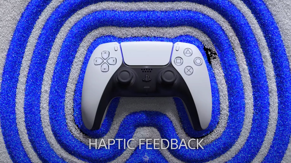 Picture showing Haptic Feedback on the PS5 controller